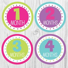 23 best monthly baby stickers images on pinterest baby month