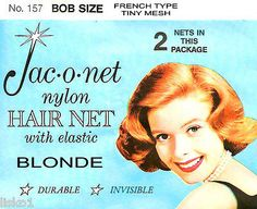 Jac-O-Net #157 Bob Size French type Hair Net w/Elastic (2) pcs. Blonde