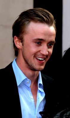 Tom Felton adorableness.