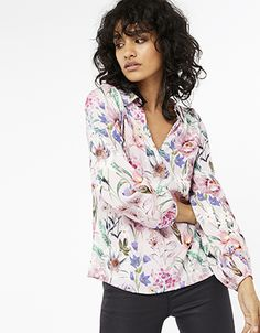 Monsoon   Carly Floral Top   Pink   8   4409272108