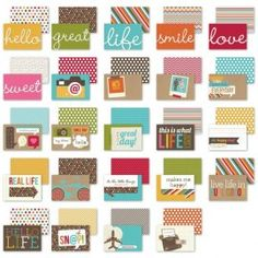 """Simple Stories Snap Life Snappy Sayings 4""""x6"""" Double Sided Quote Cards"""