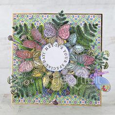Handmade Tags, Greeting Cards Handmade, Shaped Cards, Beautiful Handmade Cards, Tag Design, Heartfelt Creations, Pink Peonies, Flower Shape, Gel Pens