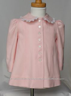 Toddler Pink Couture Vintage Style Spring Coat by SydneynMilaBoutique