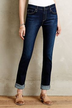 Dark indigo non-ripped, non beaded blue jeans. I have all bootcut and one pair of straight leg jeans I like a lot. I don't want any capri or cropped jeans Fashion Models, Denim Fashion, Fashion Outfits, Womens Fashion, Cool Outfits, Casual Outfits, Casual Wear, Designer Jeans For Women, New Arrival Dress