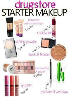 Six One Six: Makeup for Beginners on a Budget What?ℳake up makeup products for beginners - Makeup Products Makeup 101, Makeup Guide, Makeup Dupes, Makeup Tools, Skin Makeup, Makeup Brushes, Beauty Makeup, Makeup Ideas, Elf Dupes