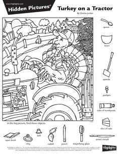 2016년 10월 숨은그림찾기 10페이지, Hidden Pictures : 네이버 블로그 Thanksgiving Activities, Thanksgiving Crafts, Highlights Hidden Pictures, Hidden Pictures Printables, Hidden Picture Puzzles, School Folders, Indoor Games For Kids, Career Fields, Teacher Assistant