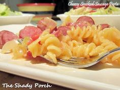 Smoked Sausage Pasta by The Shady Porch