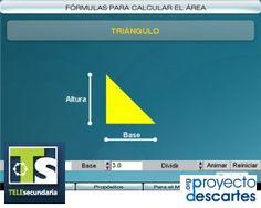 PROYECTO TELESECUNDARIA. Fórmulas para calcular el área. Que los alumnos observen formas alternativas de justificar, mediante animaciones, las fórmulas para calcular el área de algunas figuras geométricas básicas.