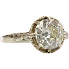 1STDIBS.COM Jewelry & Watches - European Cut Solitaire c1910 - Single Stone