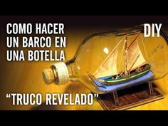 """COMO HACER UN BARCO EN UNA BOTELLA """"TRUCO REVELADO"""" - YouTube Diy Projects For Beginners, Easy Diy Projects, Projects To Try, Tabletop Water Fountain, Diy Fountain, Popsicle Stick Houses, Ship In Bottle, Ship Craft, Epoxy Resin Table"""