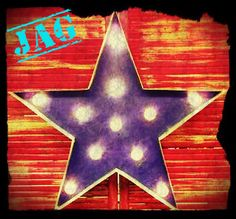 """24"""" Marquee Star with distressed Cobalt blue finish"""