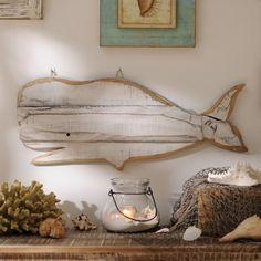 Wooden Whale Wall Art