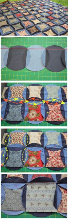 Denim Circles Quilt « Moda Bake Shop