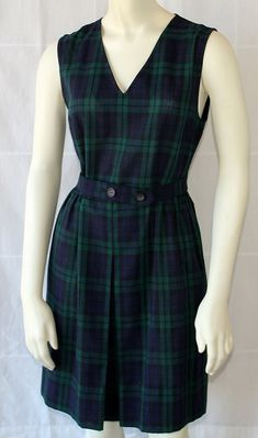 60s School Uniform / Jumper / Plaid / Black by PetticoatsPlus, $30.00