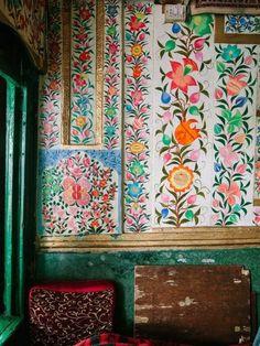 awesome Bohemian Homes - Bohemian Homes: Hand Painted Indian Botanical Wall...