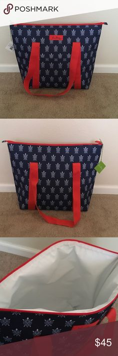 Vera Bradley Cooler Tote New with tags! Vera Bradley Cooler Tote in Turtles. One small open in the front. Vera Bradley Bags Totes