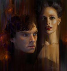 Sherlock and Irene by Olga-Tereshenko on DeviantArt