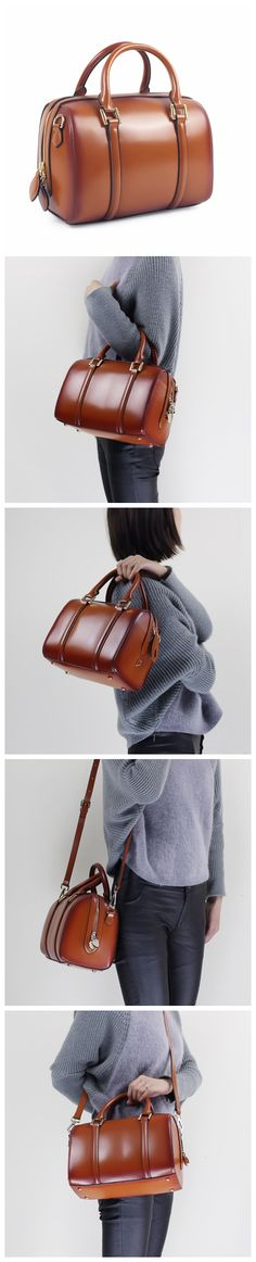 Handmade leather handbag shoulder bag women's leather fashion bag 14068