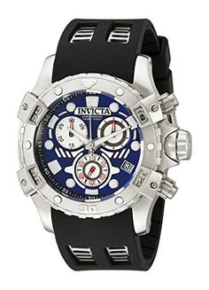 Men's Wrist Watches - Invicta Mens 18858 Specialty Analog Display Swiss Quartz Black Watch *** Continue to the product at the image link.