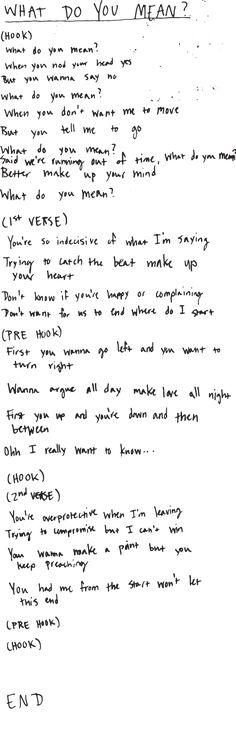 good work.. here's the #whatdoyoumean lyrics u found http://justinbiebermusic.com