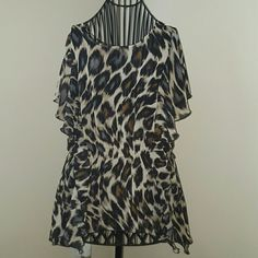 Worthington Blouse Animal print In good condition. Might need a cami under. Worthington Tops Blouses