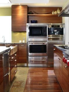 Asian Kitchen Hardwood Flooring Kitchen Design, Pictures, Remodel, Decor and Ideas
