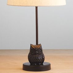 This could be cute somewhere in the house, I'm sure.     Owl Metal Accent Lamp Base | World Market