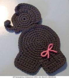 Ravelry: Elephant Appliqué Patch Trim by Thomasina Cummings Designs