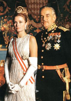Official portrait of Prince Rainier III and Princess Grace of Monaco by photographer Howell Conant.