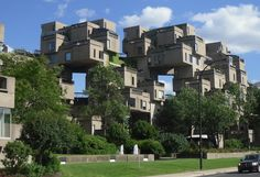 Habitat 67 (Safdie, Moshe. 1967) - Ahousing complex that has strong constructivist influences and was designed to integrate the elements of suburban housing on mulitple levels.