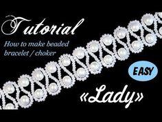 Tutorial: Hoe bruiloft kralen choker / armband maken met parels [EASY] - YouTube