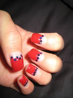 4th of July Nails by Mikimon, via Flickr