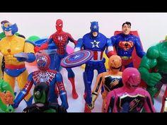 Play-Doh Superhero Surprise Eggs with Hulk, Thor, Batman, Spiderman    T...