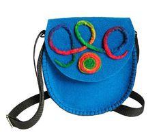 Felt fag felt handbag blue multicolor blue handbag