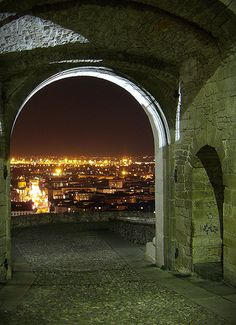 Bergamo by night - Lombardy, Italy