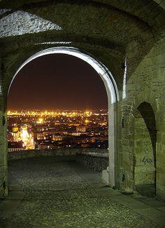 Bergamo by night - Lombardy, Italy