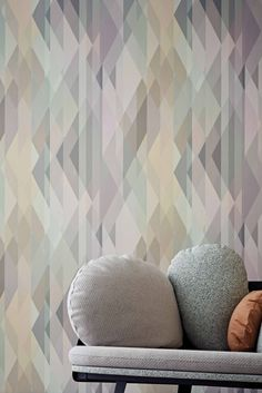Cole & Sons amazing Prism wallpaper design now comes in this stunning pastel colourway.