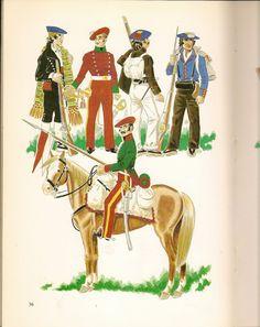 Carlists Aragon Volunteer, Cav Trumpeter, Infantry, Guide & Lancer Fernando Vii, Aragon, Fig, 19th Century, Battle, Spanish, Empire, Army, Military