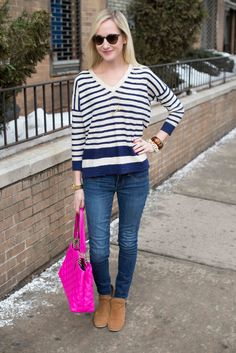 Stripes, Monograms and Pops of Pink - Kelly in the City