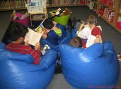 great ideas for elementary library centers!! Love these!
