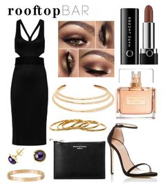 """Rooftop Bar"" by krististokes ❤ liked on Polyvore featuring Stuart Weitzman, Jonathan Simkhai, Marc Jacobs, Cartier, Aspinal of London, Givenchy, A B Davis, Kenneth Jay Lane, Gorjana and summerdate"
