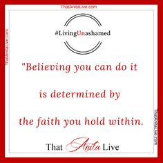 Believing you can...