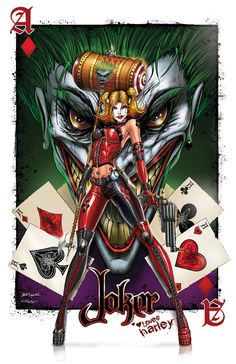 Harley Quinn Luvs the Joker by *jamietyndall