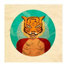 Tigreton Culebron - Limited Art Print. €18.00, via Etsy.