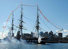 USS Constitution (Old Ironsides) in Boston is a National Historic Landmark.  USS CONSTITUTION, the world's oldest commissioned warship afloat, promotes the United States Navy and America's naval heritage through educational outreach, public access and historic demonstrations, in port and underway. The ship is open for free guided tours throughout the year.