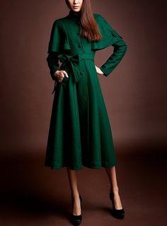 Winter Thick Long Coat Wool Women Coat Slim Lady Long by handok, $178.00