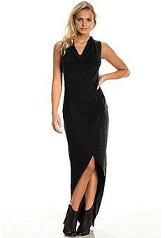 Elan Faux-Wrap Hi-Low Knit Maxi Dress http://stylesvogue.com/homecoming-dresses-2014/
