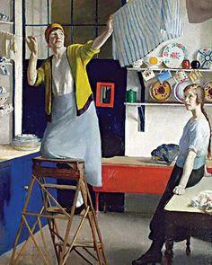 Harold Harvey (British, 1874–1941) - In the Kitchen