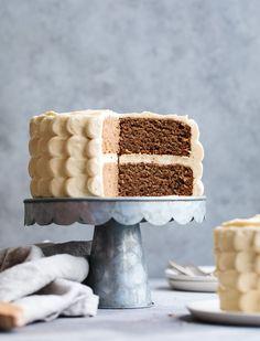 Baby Smash Cake: Banana Date Cake with Maple Cream Cheese Frosting (gluten-free & refined sugar-free)