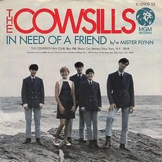 "Cowsills rare 45 rpm picture sleeve ""In Need Of A Friend"""